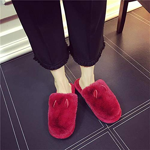Dongtx Scarpe Red Invernali Moda Cotone All'ingrosso Casa Pantaloncini Da Inverno Formato Donna Pantofole Ciabatte rrw8pA