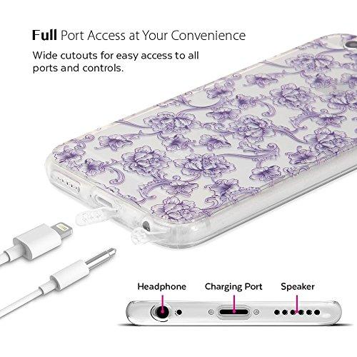iPhone 6s Case, GMYLE für das iPhone 6s - Floral Muster Anti Staub Plug Phone Case mit PC Back & TPU Bumper