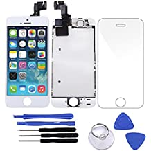 BESTSELLER2888 LCD Touch Screen Replacement LCD Touch Screen Digitizer Frame Assembly Full Set With Tools for iPhone 5S Screen 4.0 inches (White)
