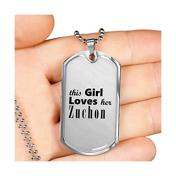Zuchon - Luxury Dog Tag Necklace Lover Owner Mom Birthday Gifts Jewelry 3
