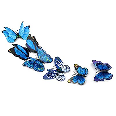 Wall Decal Butterfly, Topixdeals 3D Butterfly Stickers, Removable Wall Sticker Decals for Room Home Nursery Decor