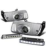 95 civic ex back bumper - Honda Civic Coupe/Hatchback Pair of Smoke Lens Bumper Fog Lamp+Bulbs+Switch+DRL 8 LED Day Time Running Light