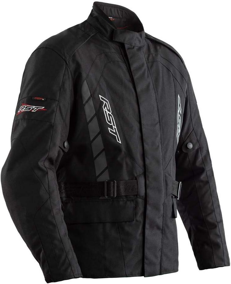 RST Alpha 4 CE Black Flo Yellow Textile Motorcycle Jacket Size UK44,EU54,L
