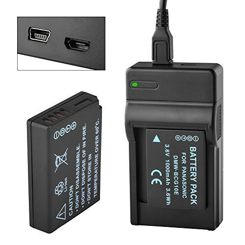 DMW-BCG10PP Battery and Charger Kit for Panasonic Lumix DMC-ZS19, DMC-ZS8, DMC-ZS10, DMC-ZS20, DMC-ZS7, DMC-ZS3, DMC-ZS15, DMC-ZS5, DMC-ZS1, DMC-ZS6, DMC-TZ20, DMC-TZ7, DMC-ZR3, DMC-TZ19, DMW-BCG10PP,