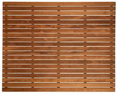 Natural Burmese Teak - Burmese Teak Large Shower Bath Mat | 36