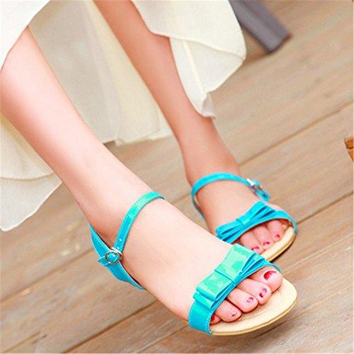 Shoes Platform Sandals Open Straps Summer Robert Westbrook Toe Women Sweet Sandals Flats Bowtie Red Ankle Fashion wq8Bt87