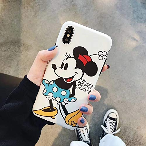 Twinlight Cartoon Mickey Minnie Mouse Case for iPhone 8 X 7 Plus XR XS MAX Lovely Back Cover Case for iPhone 7 Cute Soft TPU Shell (Style1, for iPhone X XS) (Mickey Mouse Iphone 4s Case)
