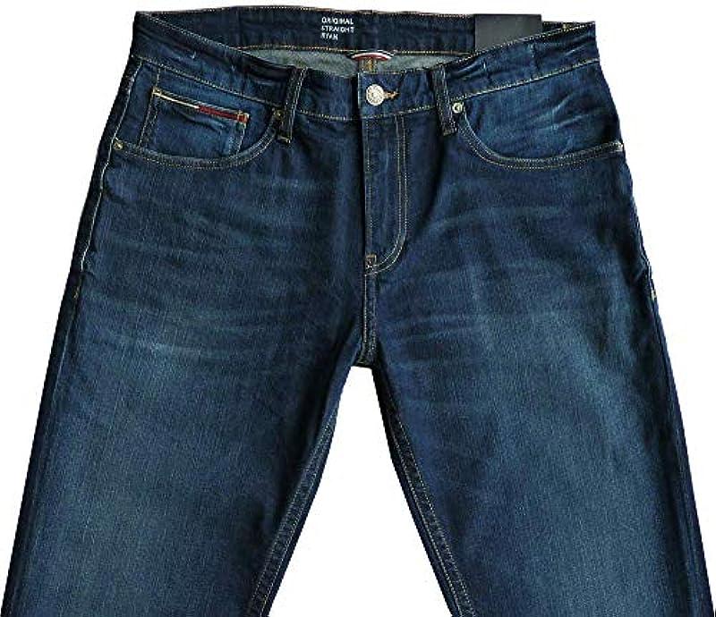 Tommy Hilfiger dżinsy stretchowe W36/L34, Straight Fit, kształt: Ryan, spodnie: Odzież