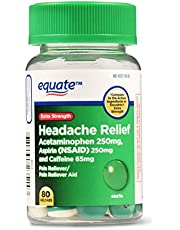 Equate Headache Relief, Extra Strength, 80 Geltabs (Pack of 2)