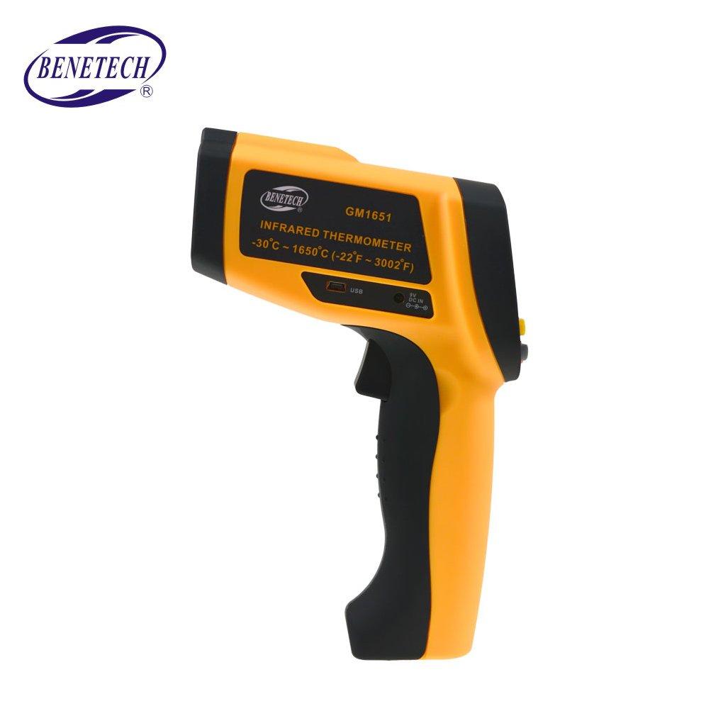 Topker Benetech GM1651 USB Termómetro infrarrojo digital Termómetro IR sin contacto Rango del probador -30 ~ 1650 ?: Amazon.es: Bricolaje y herramientas