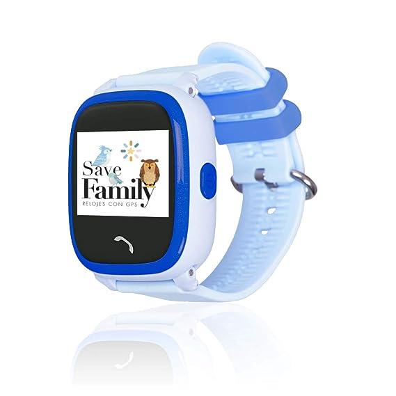 Reloj con GPS para niños SaveFamily Modelo Completo, smartwatch con Boton SOS, Permite Llamadas y Mensajes. Resistente al Agua Ip67.