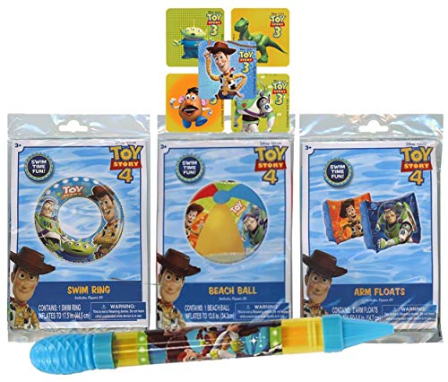 UPD Licensed Swim Sets! Pool Toys Bundle! Swim Ring, Arm Floats, Beach Ball and Water Blaster in All Your Favorite Characters!