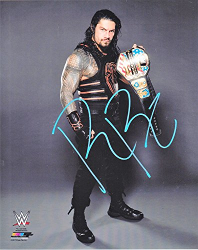 ROMAN REIGNS, WWE, 8 X 10 PHOTO AUTOGRAPH ON GLOSSY PHOTO PAPER