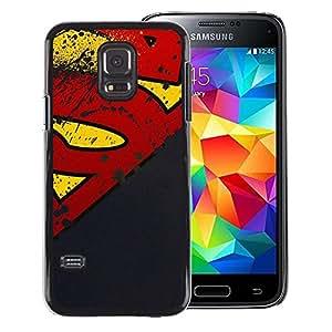 Snap-on Series Teléfono Carcasa Funda Case Caso para Samsung Galaxy S5 Mini, SM-G800 , ( Superhero Grunge )