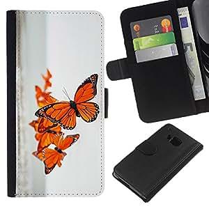 A-type (Spring Nature Ocean Sea Sky) Colorida Impresión Funda Cuero Monedero Caja Bolsa Cubierta Caja Piel Card Slots Para HTC One M7