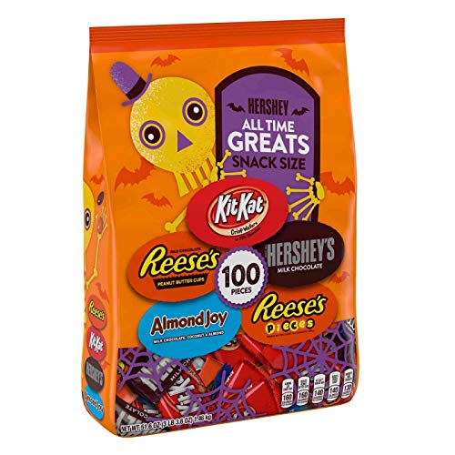 All Time Greats Reese's, Hershey's, Kit Kat, Almond Joy, and Reese's Pieces Halloween Snack Size - 100ct/51.6oz -