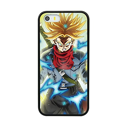 Dragon Ball DBZ Z Trunks Theme Case For Iphone 5/5S/SE Comic TPU Silicone gel edge + PC Bumper Case Skin Protective Custom Designed Printed Phone Protector Full Protection Cartoon Cover (Dragon Ball Z I Phone 5s Case)