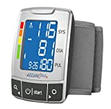 Santamedical Fully Automatic Portable Wrist Blood Pressure Cuff Monitor, Easy-to-Read LCD with Two