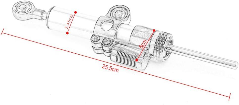 for Honda CB650F Motorcycle Accessories Steering Damper Stabilizer Bracket CNC Aluminum Alloy Titanium Ruler,SilverA
