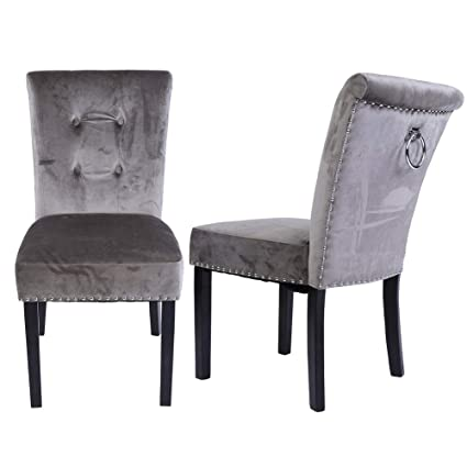 Accent Chairs Sold In Pairs.Amazon Com Accent Chair 1 Pair Modern Velvet Fabric Relax Accent