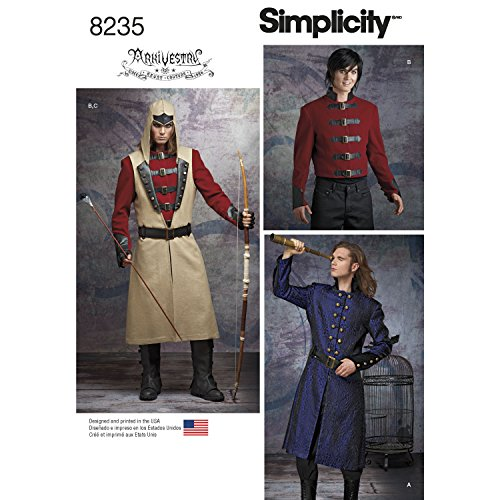 Simplicity Creative Patterns US8235BB 8235 Simplicity Pattern 8235 Men's Cosplay Costume Pattern,Size: Bb (46-48-50-52) -