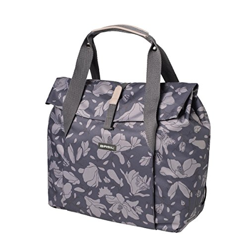 (Basil Rear Cycle Bag - Magnolia Shopper: BlackBerry 18 Litre)