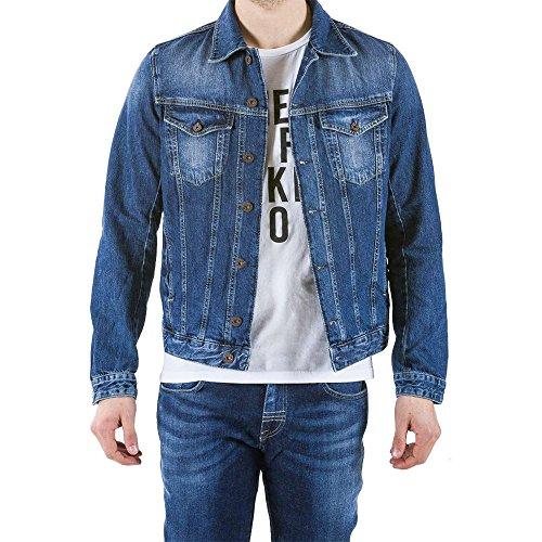 regular Chaqueta manga hombre JHEREMY estilo jeans UH221 larga ajuste Meltin'Pot Azul D2014 para zwqdzp1