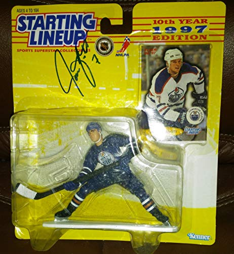 JASON ARNOTT / EDMONTON OILERS 1997 NHL Starting Lineup Action Figure & Exclusive FLEER '96/'97 Collector Trading Card ()