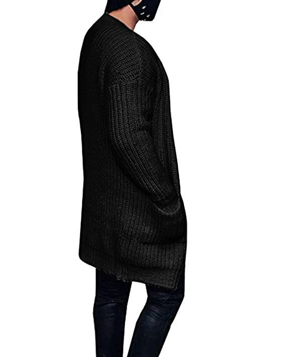 1a1a3115d1b Mens Cardigan Sweaters Open Front Long Sleeve Button Up Cable Knit Cardigans  with Pocket at Amazon Men s Clothing store