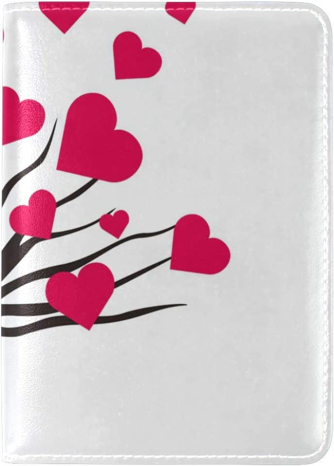 LEISISI Tree Covered With Love Genuine Real Leather Passport Holder Cover Travel Case
