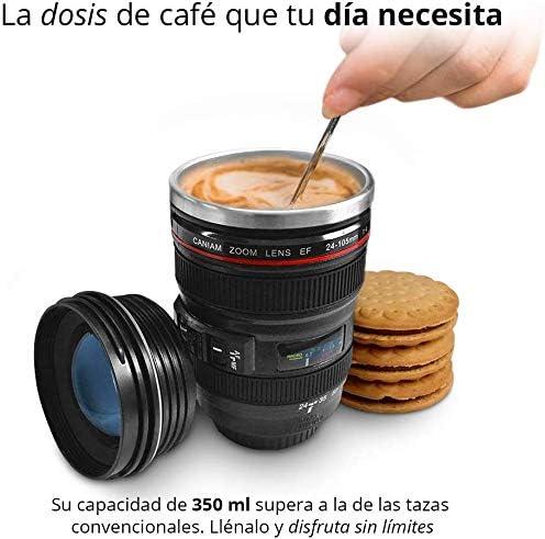 Taza en forma de lente fotográfico$295