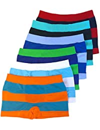 ToBeInStyle Boy's Pack of 6 Seamless Boxer Briefs Thick Stripes