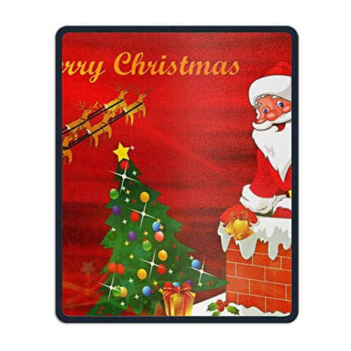 Mouse Pad,Christmas Santa Red Tree Merry Printed Mousepad Non Slip Rubber Mouse pad Gaming Mouse Pad