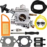 Dalom BR 600 Carburetor Air Filter Fuel Carb Repower Kit Stihl BR500 BR550 BR600 Backpack Blower Leaf Blower Parts Replaces Zama C1Q-S183 4282-120-0606 4282-120-0607 4282-120-0608