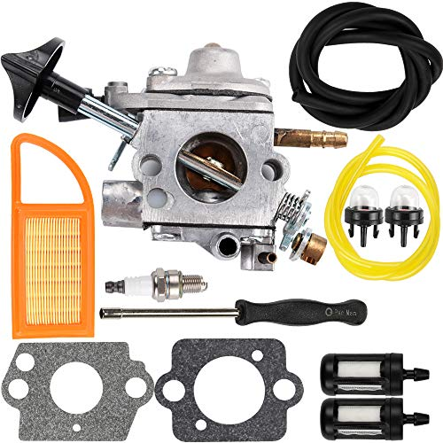 Dalom BR 600 Carburetor Air Filter Fuel Carb Repower Kit Stihl BR500 BR550 BR600 Backpack Blower Leaf Blower Parts Replaces Zama C1Q-S183 4282-120-0606 4282-120-0607 4282-120-0608 by Dalom