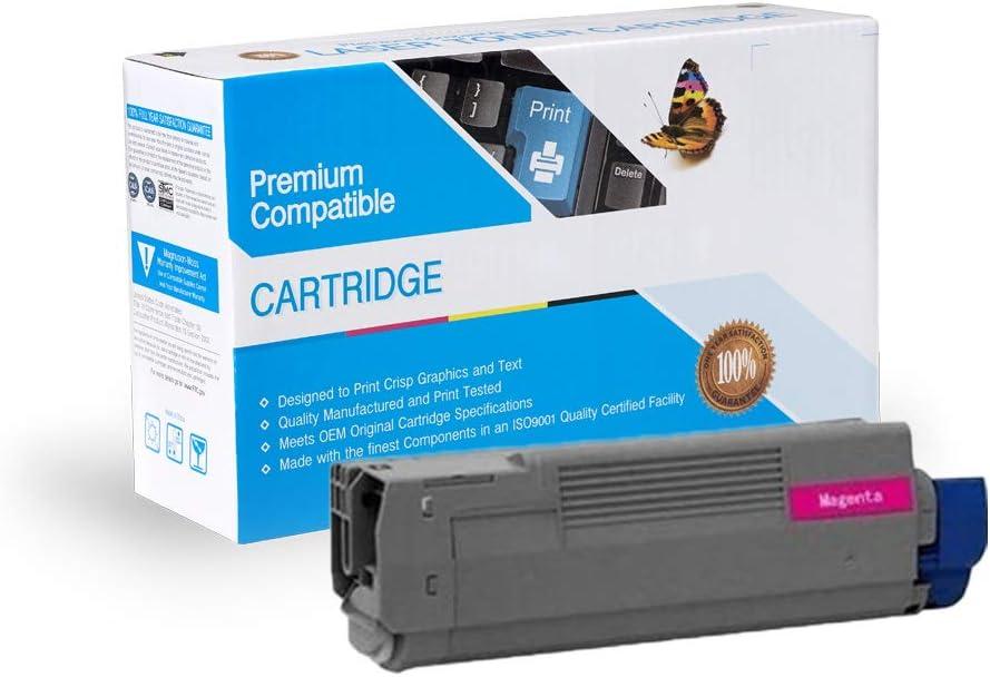 Magenta COS Imaging Compatible Ink Cartridge Replacement for Oki-Okidata 43487734.