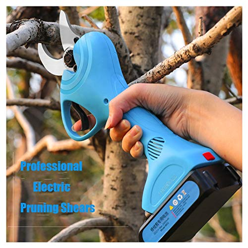 Professional Cordless Electric Pruning Shears, 1.25kg Ultra-lightweight, Blade, 6-8H Working Time, 2Ah Rechargeable Lithium Battery, 30mm /1.2 Inch Cutting Diameter