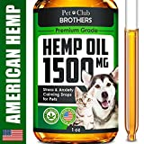 Hemp Oil for Dogs & Cats - 1500 mg - Effective Premium Formula - Grown & Made in USA - Supports Hip & Joint Health - Natural Relief for Pain and Stress, Separation Anxiety - Pet Omega 3, 6 & 9 Oil