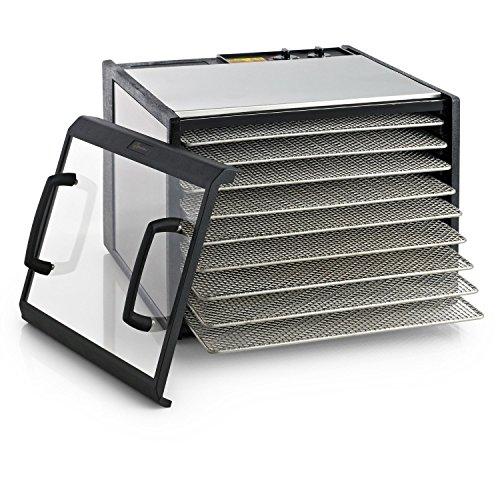 Excalibur 9-Tray Clear Door Stainless Steel Dehydrator