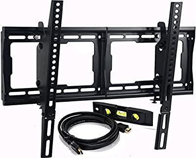 "VideoSecu Mounts Tilt TV Wall Mount Bracket for Most 23""- 75"" Samsung, Sony, Vizio, LG, Sharp LCD LED Plasma TV with VESA 200x100 400x400 to 600x400mm, Bonus HDMI Cable and Bubble Level MF608B BBM"