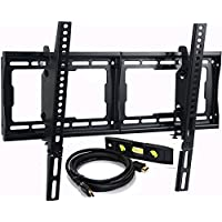 VideoSecu Mounts Tilt TV Wall Mount Bracket for Most 23- 75 Samsung, Sony, Vizio, LG, Sharp LCD LED Plasma TV with VESA 200x100 400x400 to 600x400mm, Bonus HDMI Cable and Bubble Level MF608B BBM