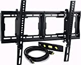 VideoSecu Mounts Tilt TV Wall Mount Bracket for Most 23'- 75' Samsung, Sony, Vizio, LG, Sharp LCD LED Plasma TV with VESA 200x100 400x400 to 600x400mm, Bonus HDMI Cable and Bubble Level MF608B BBM