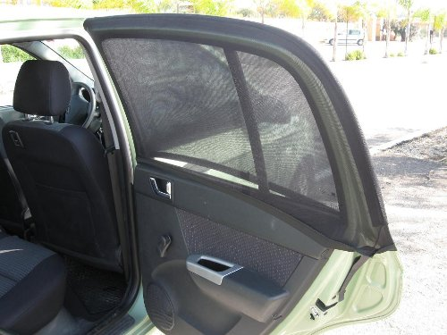 2 LARGE CURVED BLACK Car Window Socks Sox Sunshade Baby/Kids Sun Shades Side Sunscreen For Family Travel Safety .PLEASE CHECK THAT YOUR CAR APPEARS IN THE LIST IN PRODUCT DESCRIPTION!