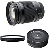 Sigma 18-300mm F3.5-6.3 Contemporary DC Macro OS HSM for Canon w/ Close-up Lens, and USB Dock for Canon