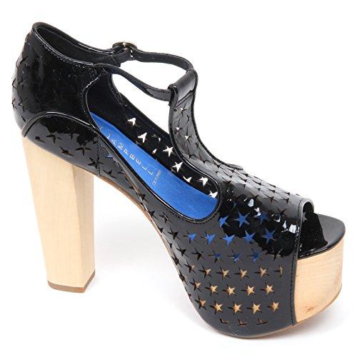 Nero Jeffrey Foxy D2230 Sandalo Donna Campbell Nero Woman Star Shoe Scarpe g6xrg1w0