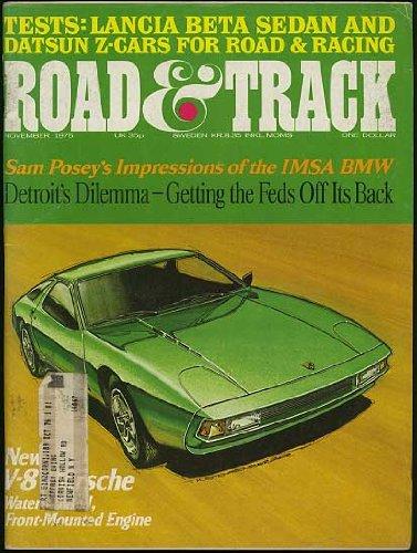 Road and Track Magazine (November 1975) (Porsche V-8 cover) (Vol. 27; #3)