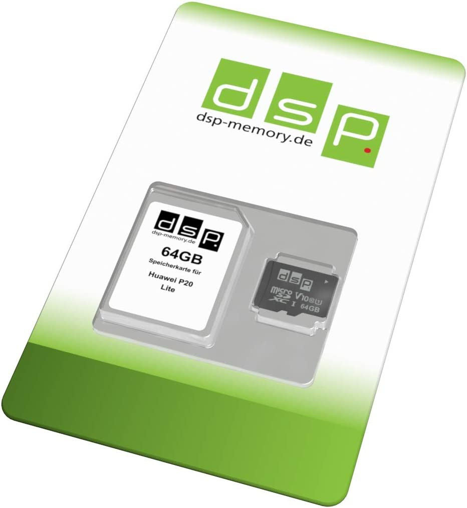 Tarjeta de Memoria de 64 GB (Class 10) para Huawei P20 Lite: Amazon.es: Informática