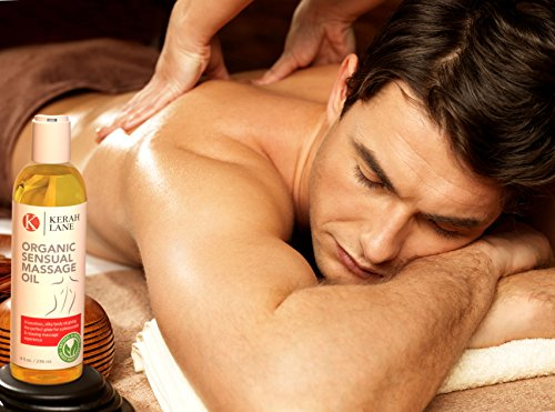 Organic Sensual Body Massage Oil, 100% Natural Therapeutic and Relaxing Essential Oils for Couples, with Lavender and Bergamot