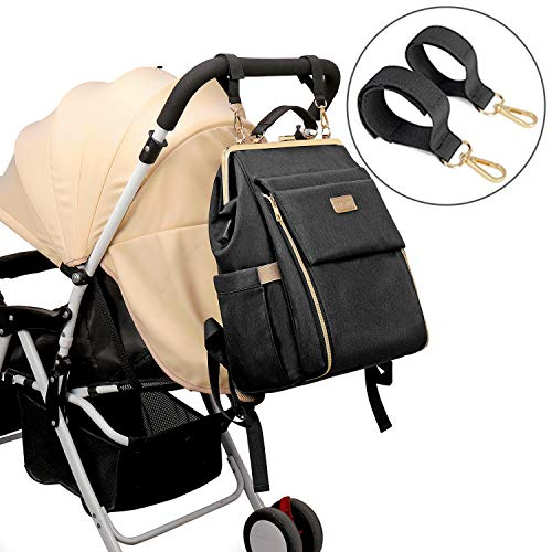 Diaper Bag Backpack Waterproof Travel Back Pack Multifunction Maternity Baby Bags Large Capacity Nappy Bags with Changing Pad, Insulated Pocket, USB Charging Port, Stroller Straps, Grey