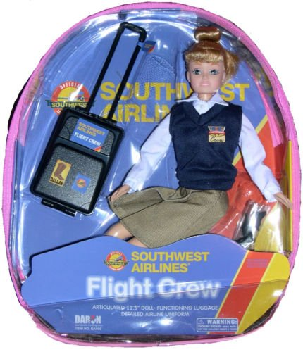 Flight Attendant Doll Southwest Airlines SWA 11
